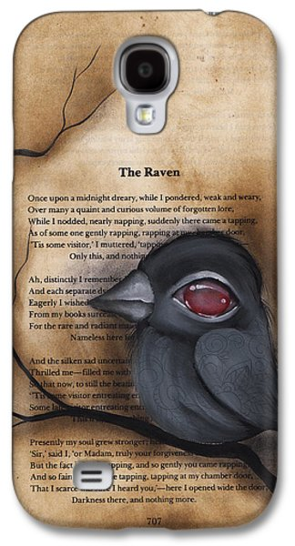 Crows Paintings Galaxy S4 Cases - Nevermore #1 Galaxy S4 Case by  Abril Andrade Griffith