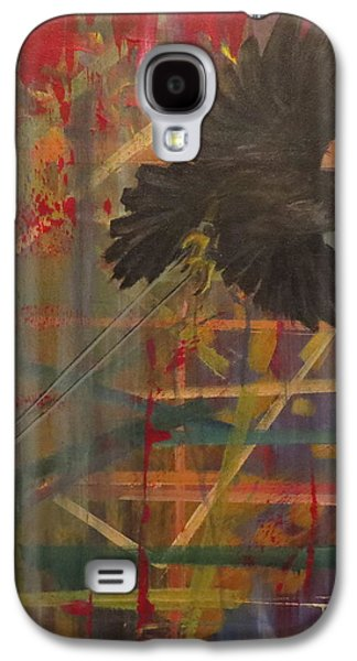 Caws Paintings Galaxy S4 Cases - Nevermore Galaxy S4 Case by Laura Enninga