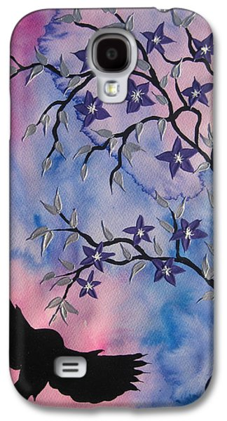 Cherry Blossoms Mixed Media Galaxy S4 Cases - New Adventures Galaxy S4 Case by Cathy Jacobs