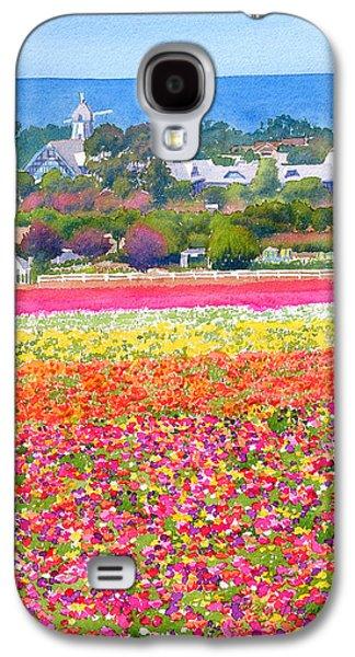 Windmill Galaxy S4 Cases - New Carlsbad Flower Fields Galaxy S4 Case by Mary Helmreich