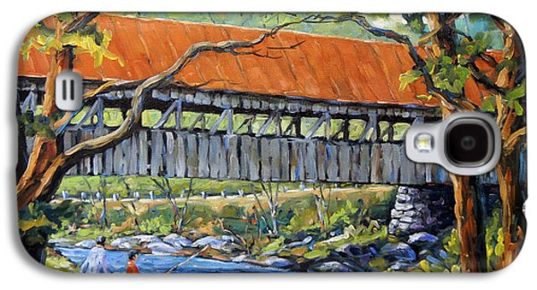 Covered Bridge Paintings Galaxy S4 Cases - New England Covered Bridge by Prankearts Galaxy S4 Case by Richard T Pranke
