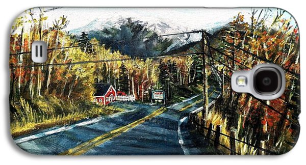 Maine Roads Paintings Galaxy S4 Cases - New England Drive Galaxy S4 Case by Shana Rowe