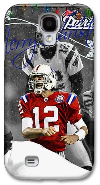 New England Patriots Christmas Card Galaxy S4 Case by Joe Hamilton