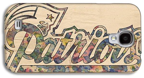 Patriots Galaxy S4 Cases - New England Patriots Logo Art Galaxy S4 Case by Florian Rodarte