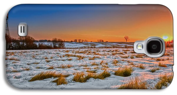 Connecticut Landscape Galaxy S4 Cases - New England Winter Sunrise Galaxy S4 Case by Bill  Wakeley