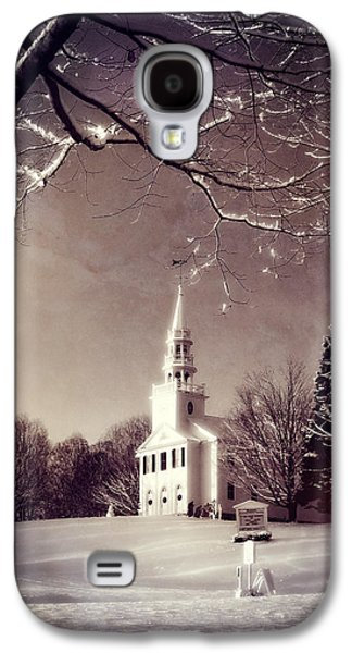 New England Village Galaxy S4 Cases - New England Winter Village Scene Galaxy S4 Case by Thomas Schoeller