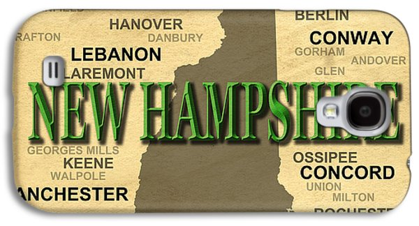Concord Galaxy S4 Cases - New Hampshire State Pride Map Silhouette  Galaxy S4 Case by Keith Webber Jr