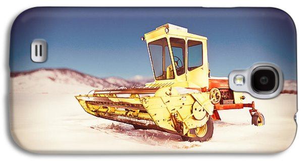 Machinery Galaxy S4 Cases - New Holland 910 Windrower Galaxy S4 Case by Yo Pedro