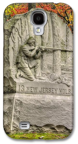 Yankee Division Galaxy S4 Cases - New Jersey at Gettysburg - 13th NJ Volunteer Infantry Near Culps Hill Autumn Galaxy S4 Case by Michael Mazaika