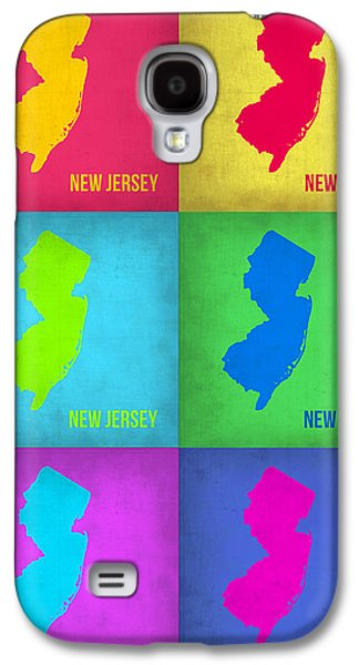 New Jersey Galaxy S4 Cases - New Jersey Pop Art Map 1 Galaxy S4 Case by Naxart Studio