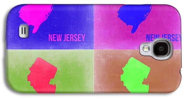 New Jersey Galaxy S4 Cases - New Jersey Pop Art Map 2 Galaxy S4 Case by Naxart Studio