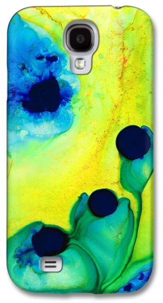 Green Modern Galaxy S4 Cases - New Life - Green and Blue Art by Sharon Cummings Galaxy S4 Case by Sharon Cummings