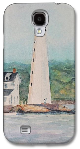 New England Lighthouse Paintings Galaxy S4 Cases - New London Harbor Lighthouse New London CT Galaxy S4 Case by Patty Kay Hall