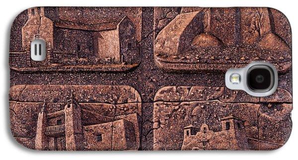 Taos Galaxy S4 Cases - New Mexico Churches Galaxy S4 Case by Ricardo Chavez-Mendez