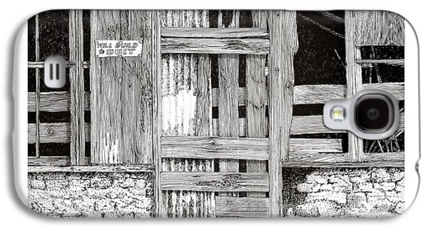 Barn Pen And Ink Galaxy S4 Cases - Will build to suit New Mexico Doors Galaxy S4 Case by Jack Pumphrey