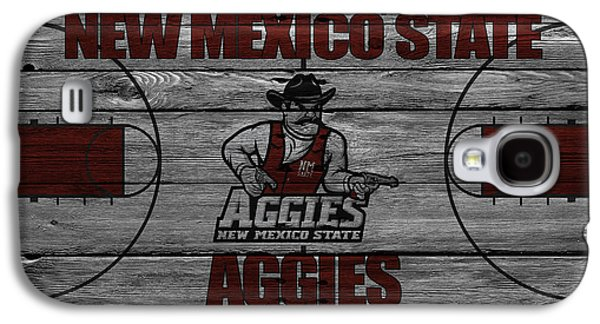 Dunk Galaxy S4 Cases - New Mexico State Aggies Galaxy S4 Case by Joe Hamilton