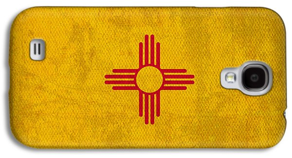 Worn Galaxy S4 Cases - New Mexico State Flag Art on Worn Canvas Galaxy S4 Case by Design Turnpike