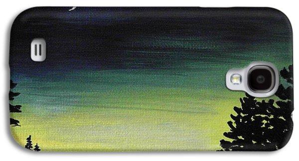 Landscapes Paintings Galaxy S4 Cases - New Moon Galaxy S4 Case by Anastasiya Malakhova