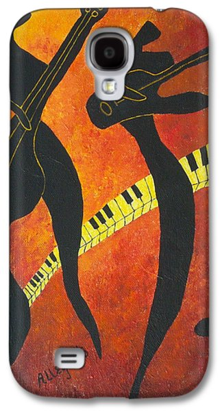 Surrealistic Paintings Galaxy S4 Cases - New Orleans Jazz Galaxy S4 Case by Pamela Allegretto