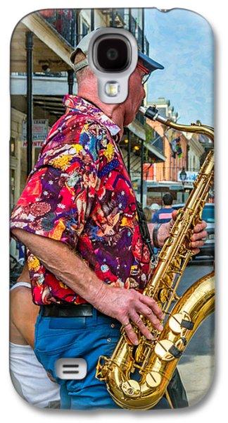 Shirt Digital Art Galaxy S4 Cases - New Orleans Jazz Sax 2 Galaxy S4 Case by Steve Harrington