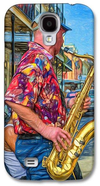 Shirt Digital Art Galaxy S4 Cases - New Orleans Jazz Sax - Paint Galaxy S4 Case by Steve Harrington