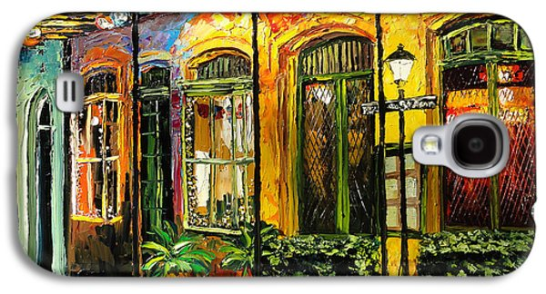 French Quarter Paintings Galaxy S4 Cases - New Orleans Original Painting Galaxy S4 Case by Beata Sasik