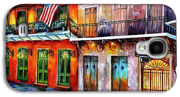 Night Lamp Paintings Galaxy S4 Cases - New Orleans Preservation Hall Galaxy S4 Case by Diane Millsap