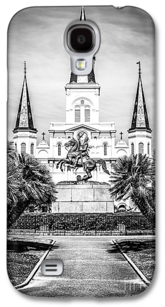 Louisiana Photographs Galaxy S4 Cases - New Orleans St. Louis Cathedral Black and White Picture Galaxy S4 Case by Paul Velgos