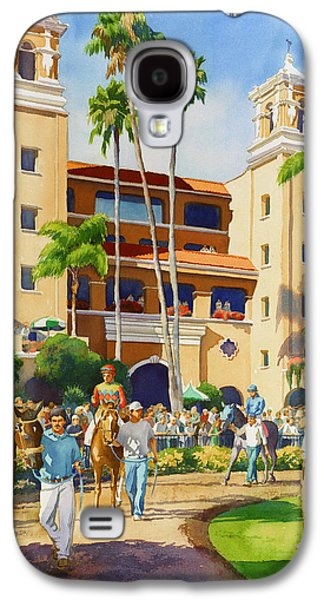 Race Galaxy S4 Cases - New Paddock at Del Mar Galaxy S4 Case by Mary Helmreich