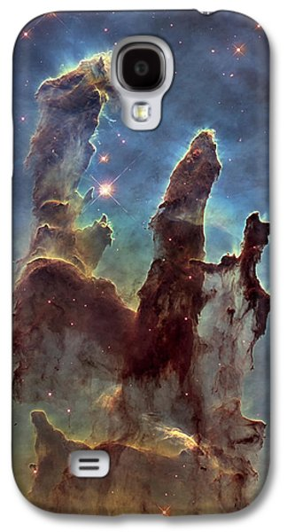 Abstract Nature Galaxy S4 Cases - New Pillars of Creation HD Tall Galaxy S4 Case by Adam Romanowicz