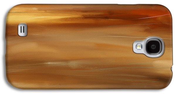 Sunset Abstract Digital Galaxy S4 Cases - New Radiance Galaxy S4 Case by Lourry Legarde