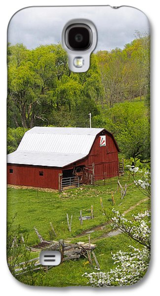 Red Barns Galaxy S4 Cases - New Red Paint 2 Galaxy S4 Case by Mike McGlothlen