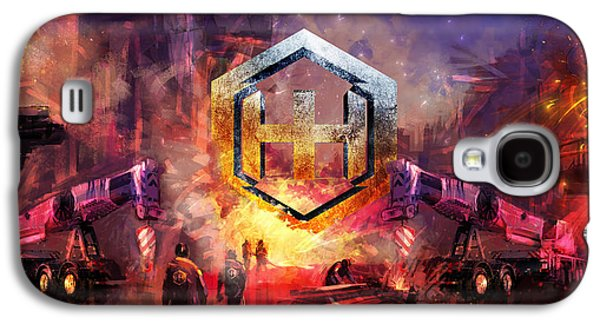 Hammer Paintings Galaxy S4 Cases - Hammer Haag Steel and Trailers Galaxy S4 Case by Ryan Woodley