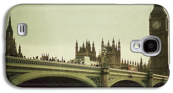 Famous Bridge Galaxy S4 Cases - New Westminster Bridge - London Galaxy S4 Case by Connie Handscomb