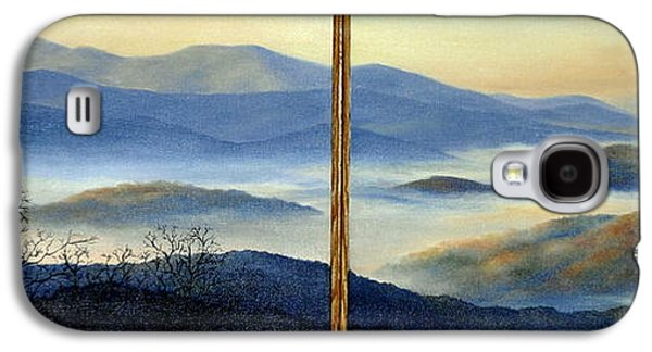 Smokey Mountains Paintings Galaxy S4 Cases - New World Galaxy S4 Case by Mary Taglieri