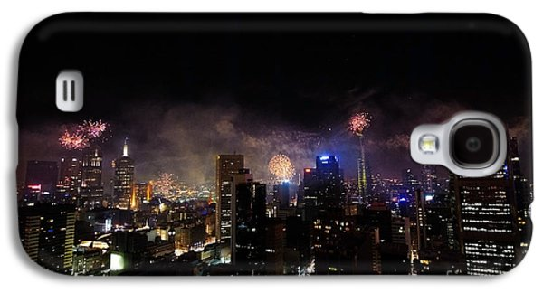 4th July Galaxy S4 Cases - New Year Fireworks III Galaxy S4 Case by Ray Warren