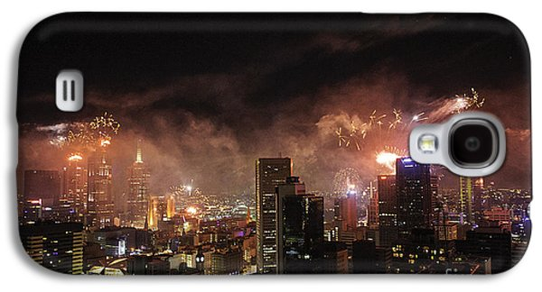 Pyrotechnics Galaxy S4 Cases - New Year Fireworks Galaxy S4 Case by Ray Warren