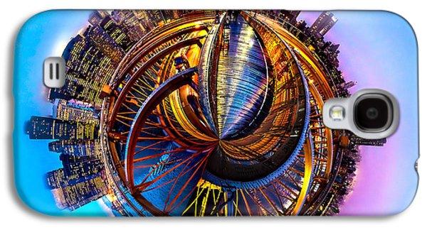 Circular Galaxy S4 Cases - New York Heartbeat Galaxy S4 Case by Az Jackson