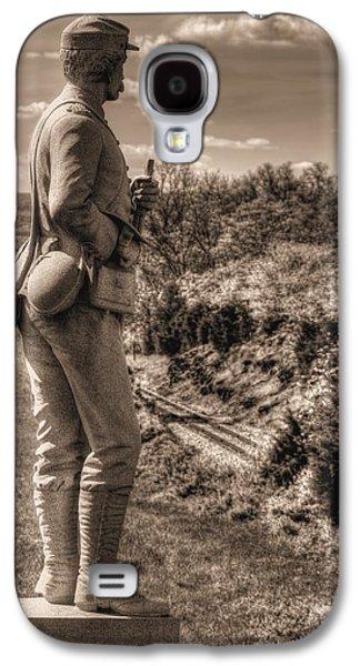 Yankee Division Galaxy S4 Cases - New York at Gettysburg - 84th NY Vol Infantry 14th Brooklyn Regiment Red Legged Devils Railroad Cut Galaxy S4 Case by Michael Mazaika