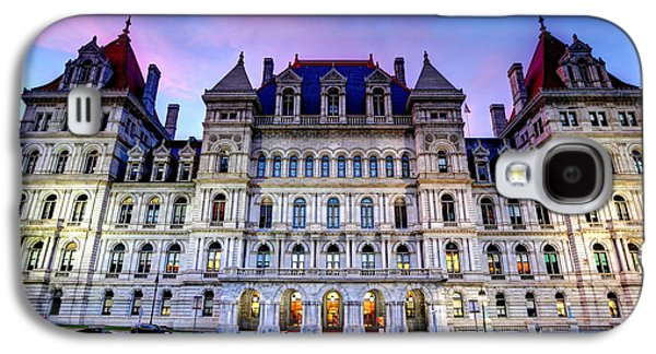Buildin Galaxy S4 Cases - New York Capitol in Albany Galaxy S4 Case by Denis Tangney Jr