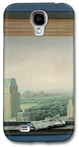 Ledge Galaxy S4 Cases - New York Central Park Galaxy S4 Case by Lincoln Seligman
