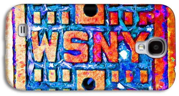 Interior Scene Mixed Media Galaxy S4 Cases - New York City Autumn Street Detail Pop Painting Galaxy S4 Case by Tony Rubino