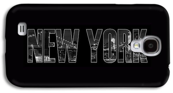 Brooklyn Bridge Digital Galaxy S4 Cases - NEW YORK CITY Brooklyn Bridge bw Galaxy S4 Case by Melanie Viola