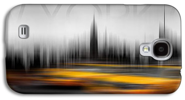 Architectural Digital Art Galaxy S4 Cases - New York City Cabs Abstract Galaxy S4 Case by Az Jackson