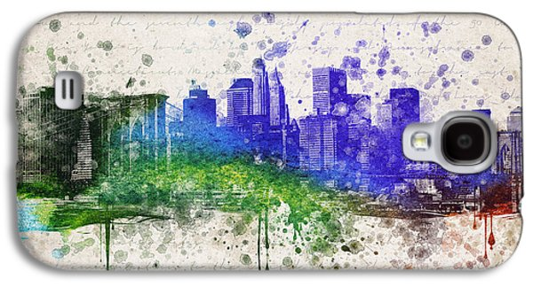 Skylines Mixed Media Galaxy S4 Cases - New York City in Color Galaxy S4 Case by Aged Pixel