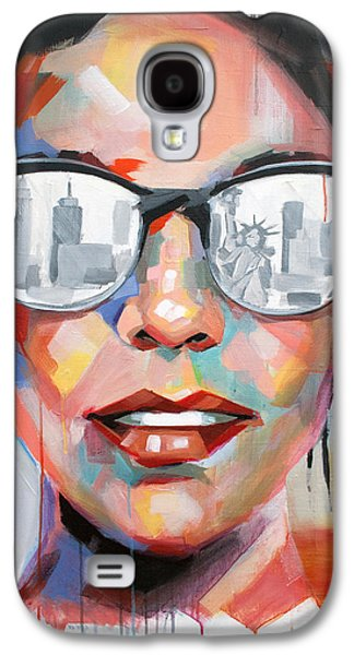 Recently Sold -  - Statue Portrait Galaxy S4 Cases - New York City Galaxy S4 Case by Julia Pappas