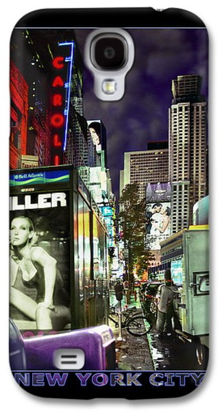 Times Square Digital Galaxy S4 Cases - New York City Galaxy S4 Case by Mike McGlothlen
