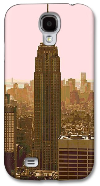 Skylines Mixed Media Galaxy S4 Cases - New York City Poster Galaxy S4 Case by Dan Sproul
