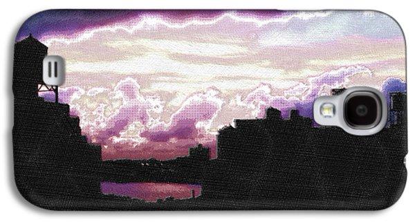 Interior Scene Mixed Media Galaxy S4 Cases - New York City Rooftops Galaxy S4 Case by Tony Rubino