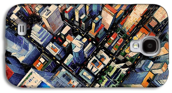 New York City Sky View Galaxy S4 Case by Mona Edulesco